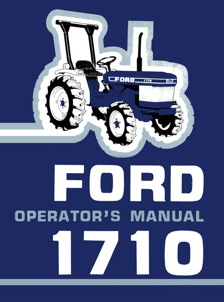Ford 1710 Tractor Operator S Manual