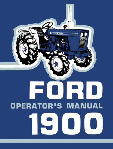 Ford 1900 Tractor Operator S Manual