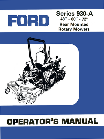 "Ford Series 930-A Rear Mounted Rotary Mowers (48""-60""-72"") - Operator's Manual - Ag Manuals - A Provider of Digital Farm Manuals - 1"