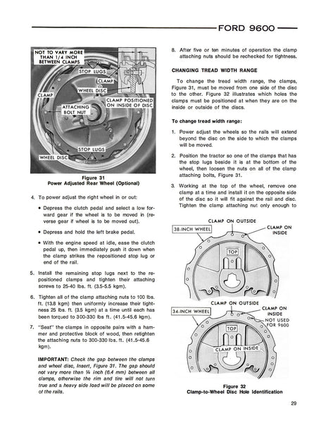 Ford 9600 Tractor - Operator's Manual