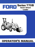 Ford Series 770B Quick Attach Loader - Operator's Manual - Ag Manuals - A Provider of Digital Farm Manuals - 1