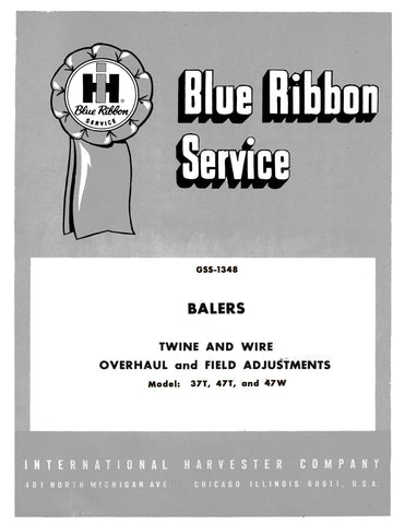 International Harvester 37T, 47T, and 47W Balers Twine and Wire Overhaul and Field Adjustments - Service Manual - Ag Manuals - A Provider of Digital Farm Manuals - 1