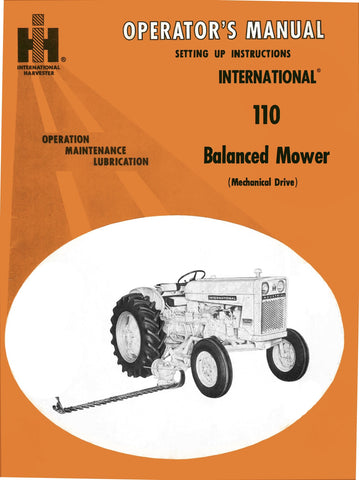 International 110 Balanced Mower (Mechanical Drive) - Operator's Manual - Ag Manuals - A Provider of Digital Farm Manuals - 1