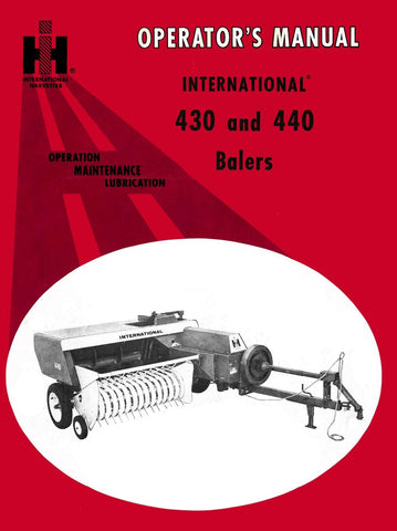 International 430 and 440 Balers - Operator's Manual - Ag Manuals - A Provider of Digital Farm Manuals - 1