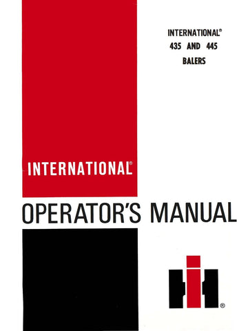 International 435 and 445 Balers - Operator's Manual - Ag Manuals - A Provider of Digital Farm Manuals - 1