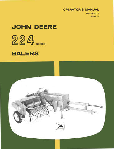 John Deere 224 Baler - Operator's Manual - Ag Manuals - A Provider of Digital Farm Manuals - 1
