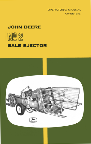 john deere no 2 bale ejector operator s manual rh agmanuals com manual bale press machine manual bale trak 567 #pl monitor controller
