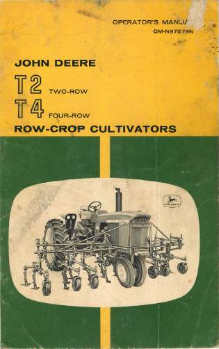 John Deere T2 Two Row And T4 Four Row Crop Cultivator