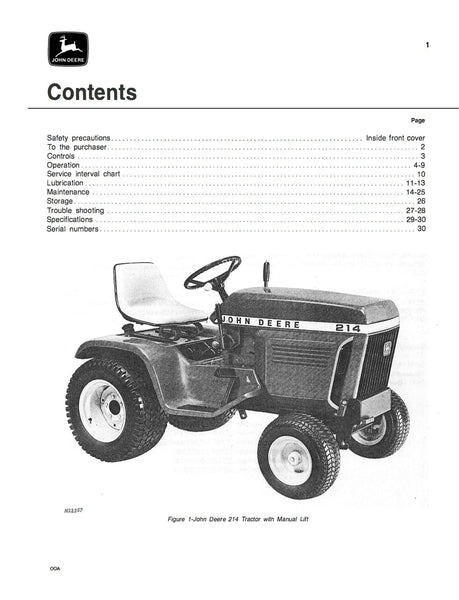 john deere 110 operators manual pdf