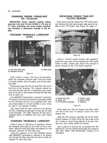john deere 110 and 112 lawn and garden tractors manaul rh agmanuals com John Deere 214 Garden Tractor John Deere 214 Engine