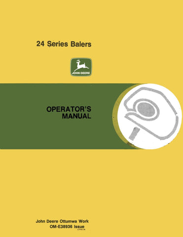 John Deere 24 Series - Operator's Manual - Ag Manuals - A Provider of Digital Farm Manuals - 1