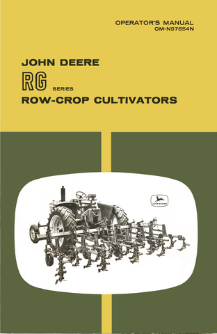 John Deere RG Series Row-Crop Cultivators - Operator's Manual - Ag Manuals - A Provider of Digital Farm Manuals - 1