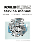 Kohler Engines 4 Cycle 17hp Twin Cylinder Model KT17 - Service Manual - Ag Manuals - A Provider of Digital Farm Manuals - 1