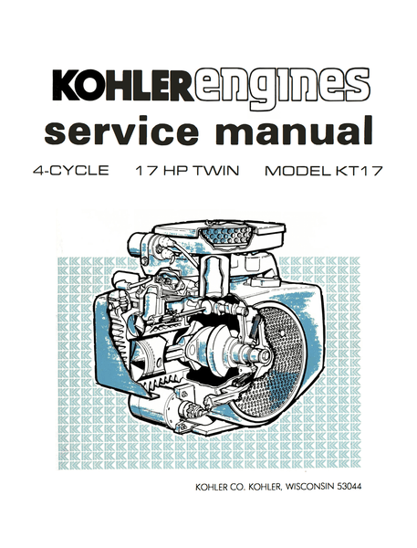 Kohler Engines Manuals Service Manuals