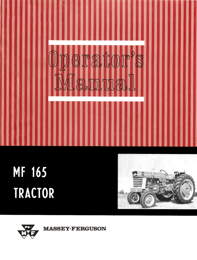 Massey Ferguson Mf 255 265 275 Tractor Manual Ford 3400 Wiring Diagram 165 Operators Ag Manuals A Provider Of Digital