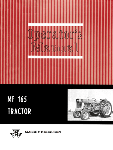 Massey Ferguson MF 165 Tractor - Operator's Manual - Ag Manuals - A Provider of Digital Farm Manuals - 1