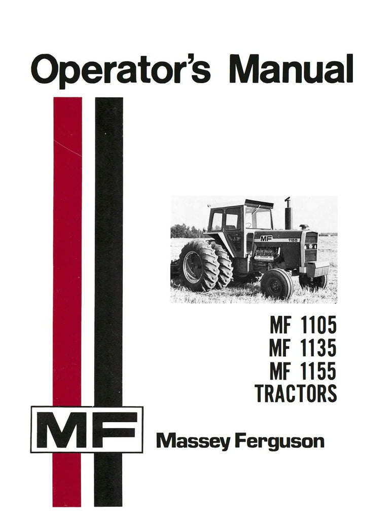 Massey Ferguson MF 1105 MF 1135 MF 1155 Tractors - Operator's Manual - Ag  Manuals -