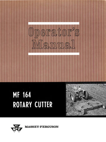 Massey Ferguson MF 164 Rotary Cutter - Operator's Manual - Ag Manuals - A Provider of Digital Farm Manuals - 1