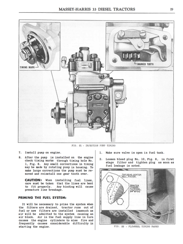 massey harris diesel tractors instructions for care and operation massey harris 33 diesel tractors instructions for care and operation ag manuals