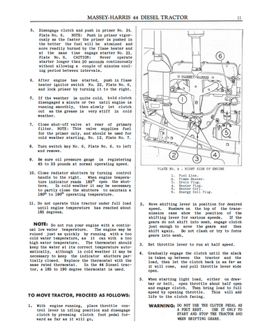 Massey-Harris 44 Diesel Tractors - Operating Instructions and ServiceAg Manuals