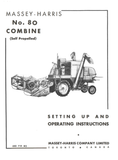 Massey-Harris No. 80 Combine Operator's Manual - Ag Manuals - A Provider of Digital Farm Manuals - 1