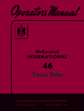International Harvester McCormick 46 Twine Baler - Operator's Manual - Ag Manuals - A Provider of Digital Farm Manuals - 1