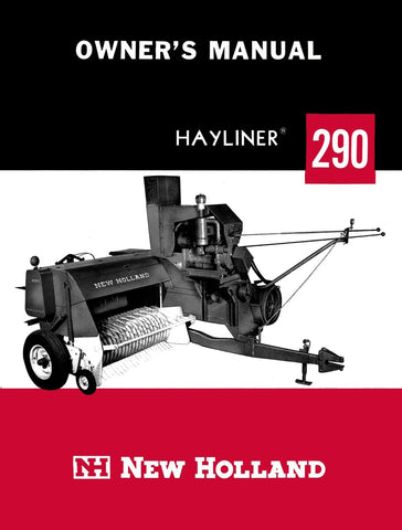 New Holland Hayliner 290 Balers - Owner's Manual - Ag Manuals - A Provider of Digital Farm Manuals - 1