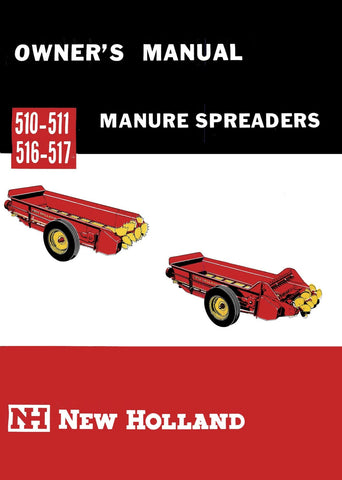 New Holland 510-511, 516-517 Manure Spreaders - Owner's Manual - Ag Manuals - A Provider of Digital Farm Manuals - 1