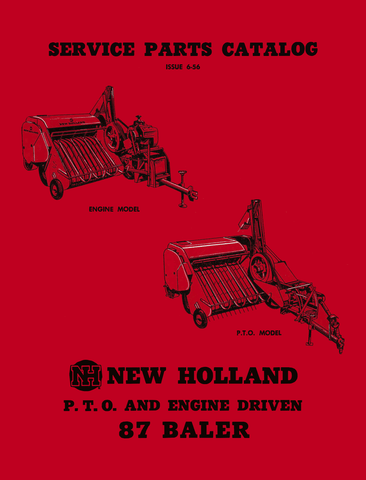 New Holland 87 Baler Service - Parts Catalog - Ag Manuals - A Provider of Digital Farm Manuals - 1