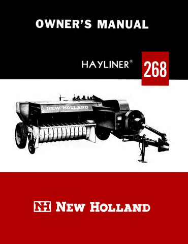New Holland Hayliner 268 Baler - Owner's Manual - Ag Manuals - A Provider of Digital Farm Manuals - 1