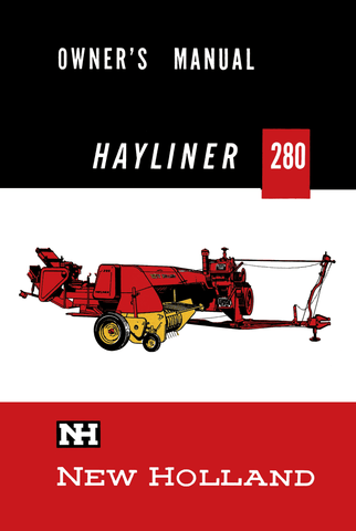 New Holland Hayliner 280 Balers - Owner's Manual - Ag Manuals - A Provider of Digital Farm Manuals - 1