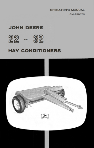 John Deere 22 and 32 Hay Conditioner - Operator's Manual - Ag Manuals - A Provider of Digital Farm Manuals - 1
