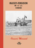 Massey Ferguson MF 72 S.P. Combine - Owner's Manual - Ag Manuals - A Provider of Digital Farm Manuals - 1