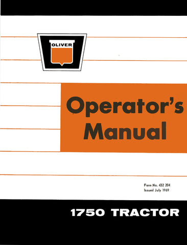 Oliver 1750 Tractor - Operator's Manual - Ag Manuals - A Provider of Digital Farm Manuals - 1