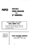 "Papec Portable Feed Maker and 20"" Hammermill - Ag Manuals - A Provider of Digital Farm Manuals - 1"