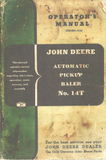 John Deere No. 14T Automatic Pickup Baler - Operator's Manual - Ag Manuals - A Provider of Digital Farm Manuals - 2
