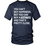 Can't Buy Happiness Tractor T-Shirt - Unisex - Ag Manuals - A Provider of Digital Farm Manuals - 1