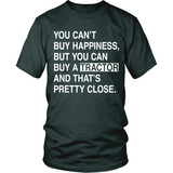Can't Buy Happiness Tractor T-Shirt - Unisex - Ag Manuals - A Provider of Digital Farm Manuals - 3
