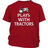 Plays with Tractors Youth t-Shirt - Ag Manuals - A Provider of Digital Farm Manuals - 2