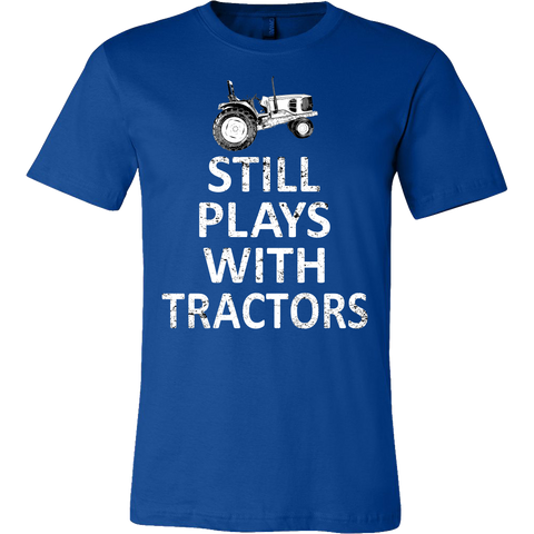 Still Plays with Tractors Mens T-Shirt - Ag Manuals - A Provider of Digital Farm Manuals - 1