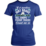 If it Involves Dirt Roads... Count Me In Women's T-Shirt - Ag Manuals - A Provider of Digital Farm Manuals - 3