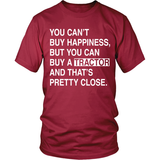 Can't Buy Happiness Tractor T-Shirt - Unisex - Ag Manuals - A Provider of Digital Farm Manuals - 2