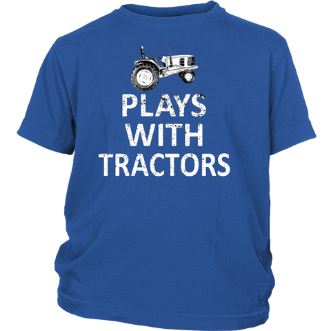 Plays with Tractors Youth t-Shirt - Ag Manuals - A Provider of Digital Farm Manuals - 1
