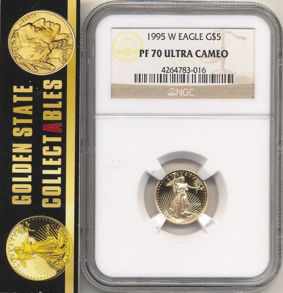 1995 W $5 GOLD EAGLE NGC PF70 ULTRA CAMEO