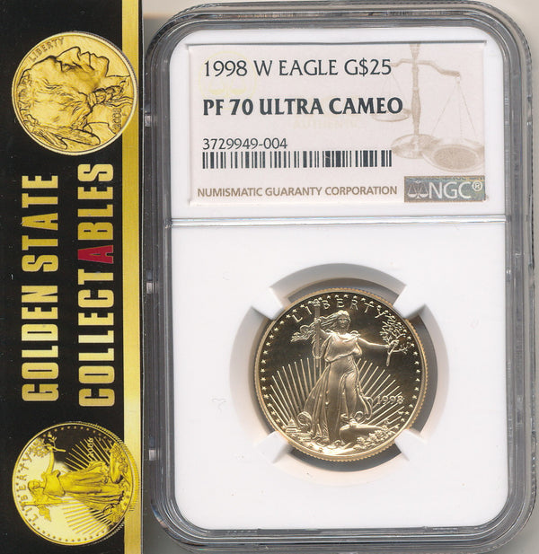 1998 W $25 Gold Eagle NGC PF70 Ultra Cameo