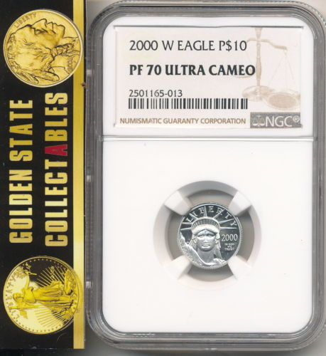 2000 W $10 Proof Platinum Eagle NGC PF70 Ultra Cameo