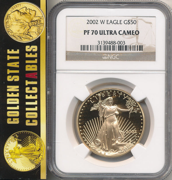 2002 W $50 Gold Eagle NGC PF70 Ultra Cameo