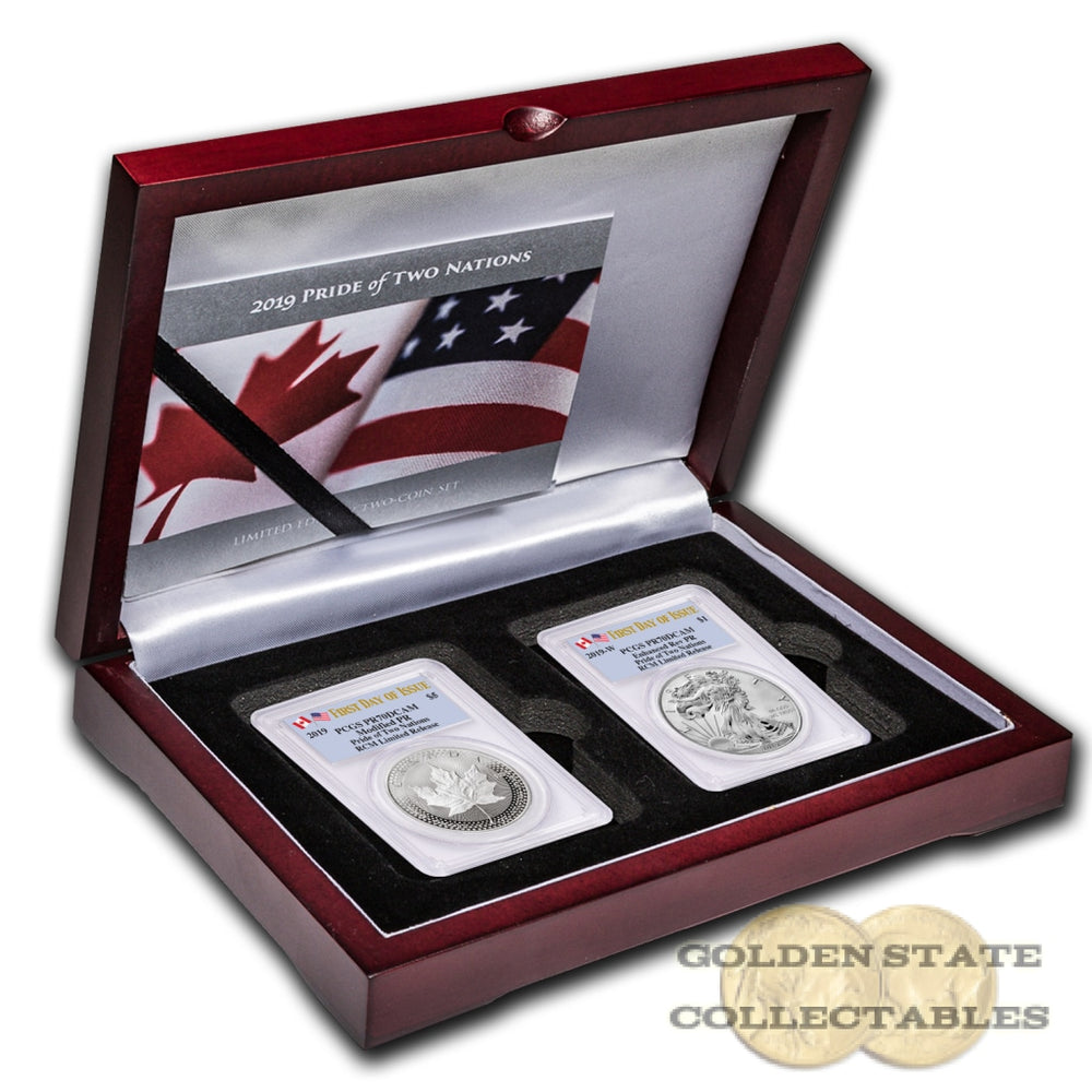 2019 RCM LIMITED Pride of Two Nations 2 Coin Set PR70 PCGS First Day of Issue