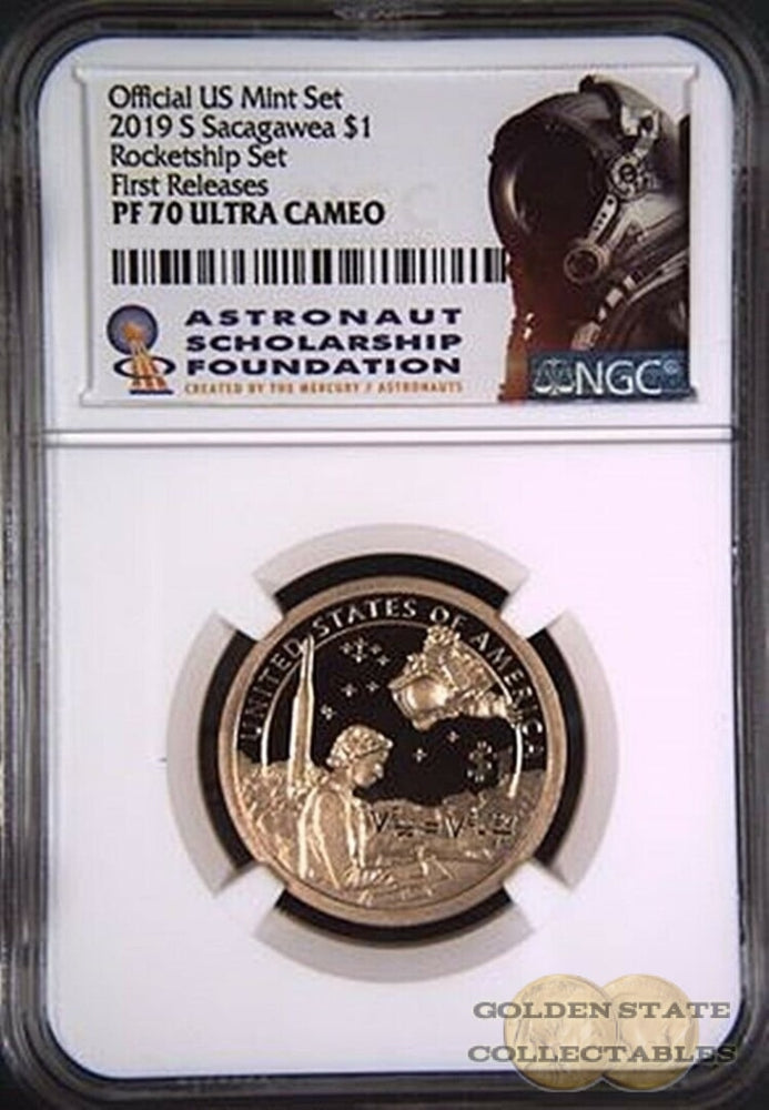 2019 S $1 Proof Sacagawea Dollar NGC PF 70 UCAM ROCKET SHIP First Releases