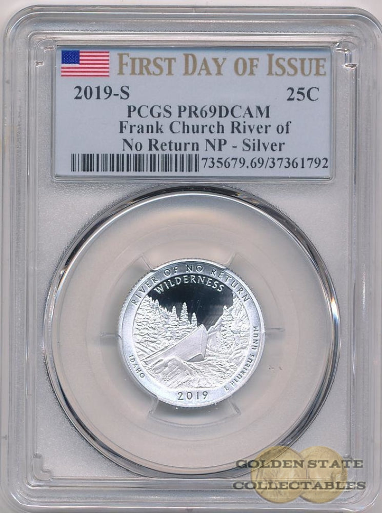 "2019-S 25c ""Frank Church River of No Return"" NP PCGS PR69 DCAM First Day of Issue"